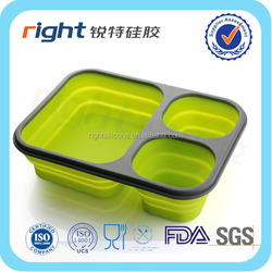 Lunch Bento Box Container Microwave and Dishwasher Safe Lunch Box with 2+1 Separated Containers