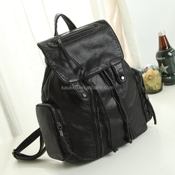 Korean Style 2015 Fashion Custom Wholesale Lady Bag PU Leather Bag for Casual Pop School Backpack