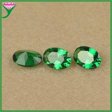 bulk cut gemstones 5X7mm fancy cut synthetic oval shape nano dark green spinel gemstone
