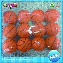 Fatory top quality customized 6.3cm pu mini basketball set