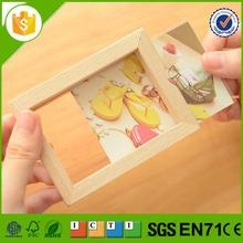 New design pine wooden photo frame for wholesales