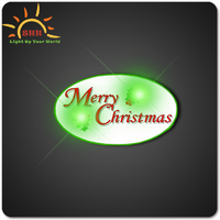 Promotion product plastic led lights badges for new year