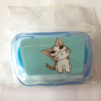 Crazy Cat Custome Contact Lens Container