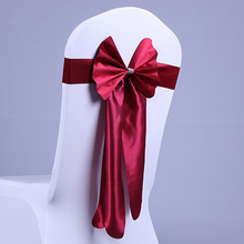Factory price and fashion chair sash for weddings burgandy colour