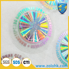 Permanent adhesive 3D sticker, Laser printing custom sticker, serials hologram sticker