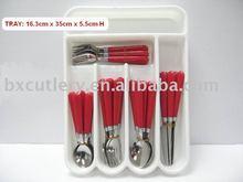 30 pcs set mirror polish flatware set with PP tray packing