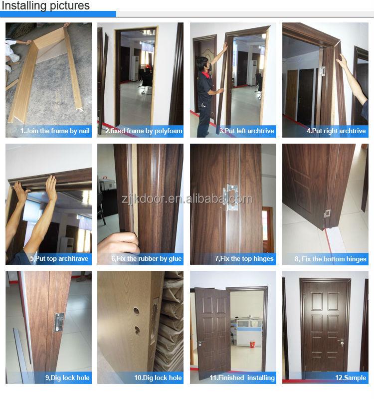 Jk w9217 novos designs porta de madeira interior de estilo for Double door design catalogue