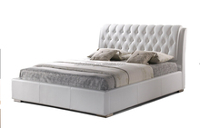 Diamond Crystal button Leather bed ,bed room furniture set