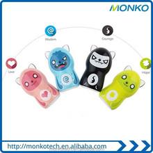 Creative Design Universal Portable Little Devil 5200mah Power Bank/Cartoon Mini external battery charger For Gift