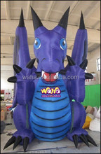 Event custom inflatable character/4M/Purple/ inflatalbe DRAGON