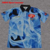 Plus sizes sublimation polyester oem polo shirt
