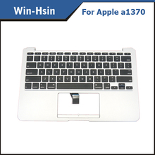 US laptop keyboard case for macbook air a1370 keyboard with top case palmrest 2010 year