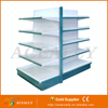 Double-side steel used supermarket display shopping shelves