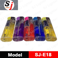 cheap transparent cigarette gas lighter electronic lighter china factory