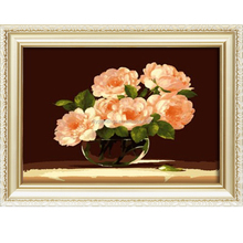 Hot sale flower design abstract oil painting on canvas