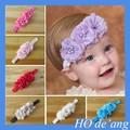 hogift moda menina do laço acessórios de cabelo flor 12 cores