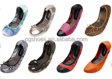 women rollable foldable shoes travel after party foldable ballet shoe