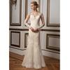 Wholesale Elegant White Pink Ivory Alibaba See Through Back Lace Mermaid Wedding Dresses Long Sleeve 2015 vestidos de novia LW85