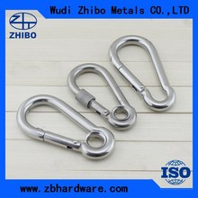Alibaba hot sale stainless steel spring snap hook DIN5299 form C