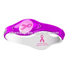 breast cancer silicone bracelet powers balancing your body health