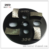 4inch 4 segments round metal bonded concrete grinding pads / diamond grinding floor tool for general grinders