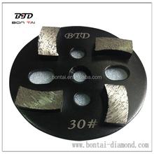 4inch 4 segments round metal bonded concrete grinding pads / diamond grinding floor tool for general grinders