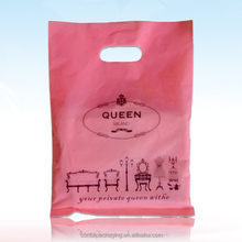 customized plastic shopping bags with handle/die cut shopping bags