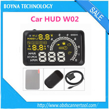 [Best Seller] High Quality car hud W02 hud speed display for OBD II OBDII cars after 2003 year 5.5 inch large screen display