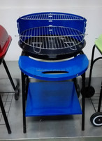 """20"""" round BBQ GRILL with front table and condiment"""