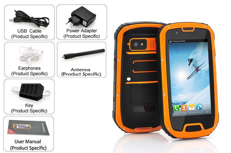 industrial gps phone with Cruider S09 andriod A-GPS 0.3+8MP/1+8GB dual sim 3G
