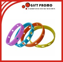 Custom Design Thin Silicone Wristband