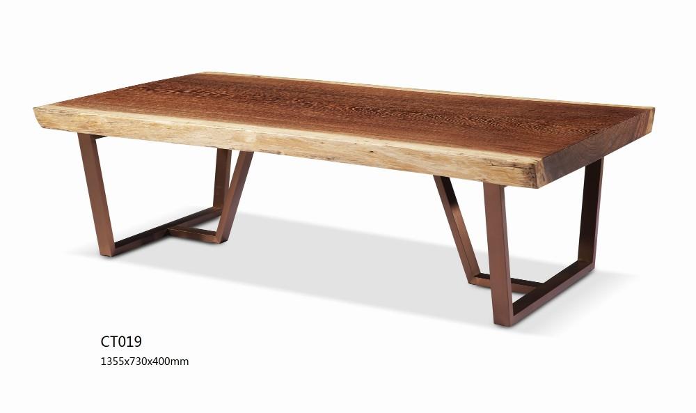 두꺼운 나무 판 4 인용 식탁 디자인 고품질의 견고한 목재 가구 ...