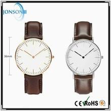 Stainless steel 6mm thin minimal japan movt man minimalist watch top brand low price