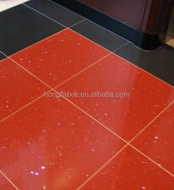 Red Sparkle Quartz Stone Floor Tiles Box