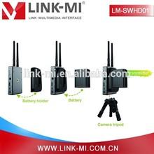 Transmisor y receptor de video LINK-MI-LM SWHD01 5.8GHz WHDI HD inalámbrico Kit-Con HDMI y conector BNC con WIFI