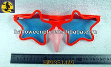 Lovely Red Star Shape Funny Eye Glasses with Witch Nose