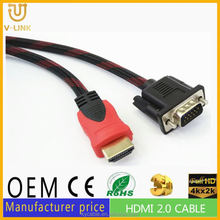 High quality HDMI to VGA cable 30m vga to antenna for LCD display