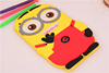 Fashion Colorful cartoon 3d Soft silicon Case for ipad 2 3 4, for ipad 2 3 4 rubber case minion