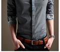 boa qualidade de venda alta e moda contraste mens camisas gola de nova arival para venda