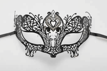 mysterious sexy product party custom filigree black metal mask