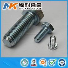 Various nickel alloy fasteners monel 400 hex bolts