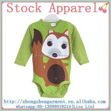 baby clothing 100% cotton cute romper onesie jumpsuit long sleeves stock lots