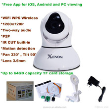 all in one ip network camera wifi p2p ip camera, portable wireless ip camera