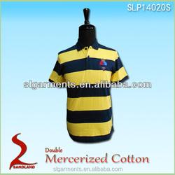 Wholesale short sleeve 100%Mercerized cotton polo shirt plain polo golf shirts for men China clothing supplier
