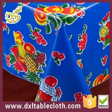2015 Hot sale good quality blue fruit patterns printed series tablecloth in roll