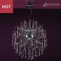 Modern crystal ball shape bedroom chandelier