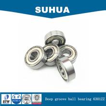 Metric size single row deep groove ball bearing 6301ZZ