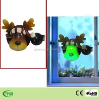 Polyresin reindeer window led night light for Christmas indoor decoration