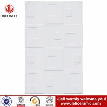 2014 hot modern design embossed white horse ceramic wall tile