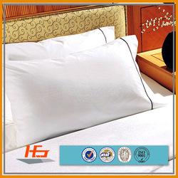 Star Hotel Pillow Sham Cotton White Satin Pillow Case Pillow Cover